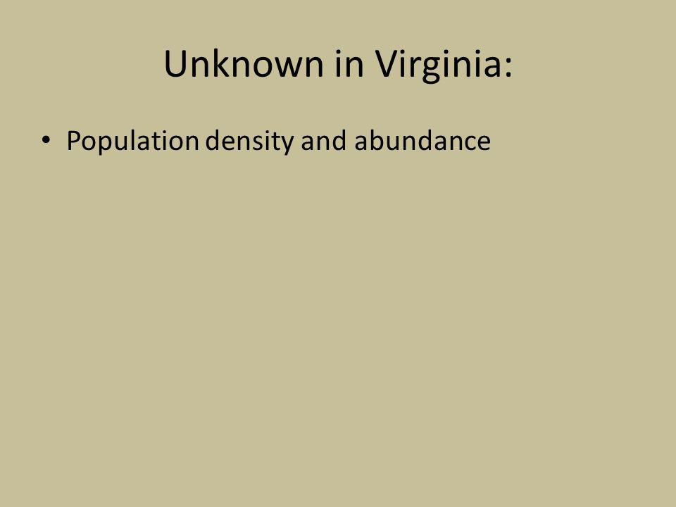 Unknown in Virginia: Population density and abundance