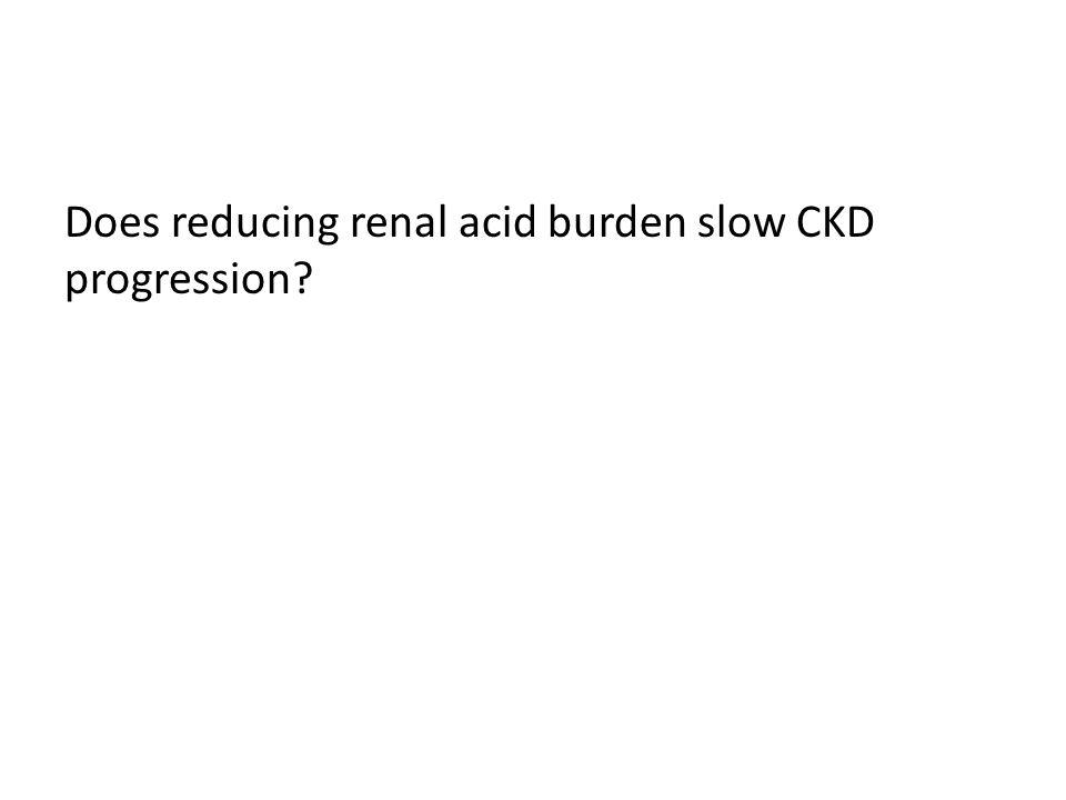 Does reducing renal acid burden slow CKD progression?