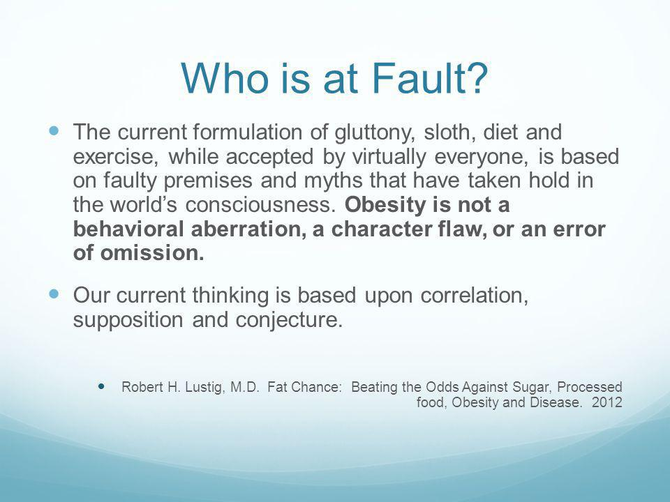 Who is at Fault.