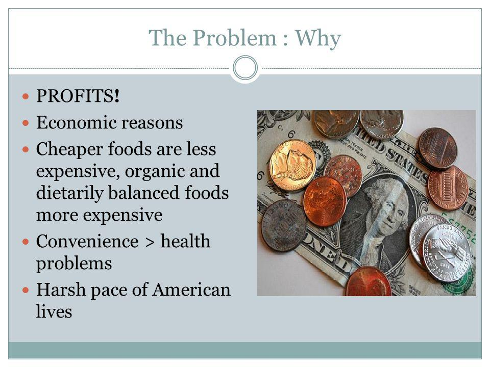 The Problem : Why PROFITS.