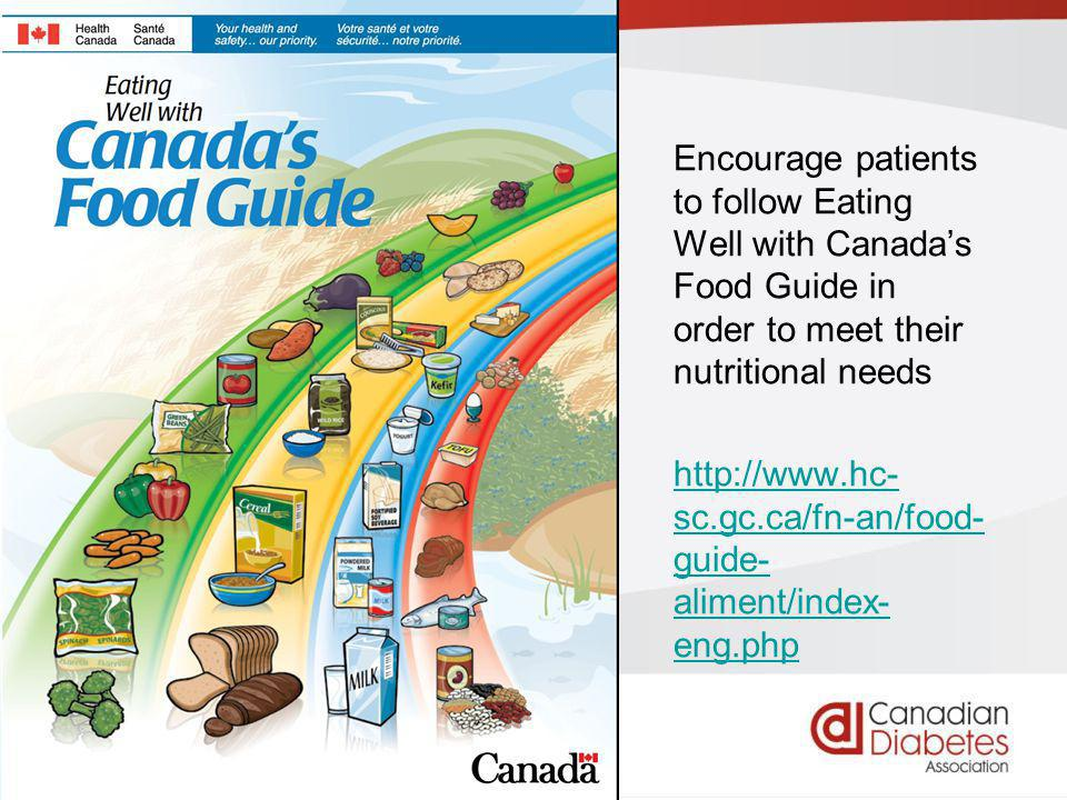 guidelines.diabetes.ca | 1-800-BANTING (226-8464) | diabetes.ca Copyright © 2013 Canadian Diabetes Association Recommendations 7 and 8 7.Added sucrose or added fructose can be substituted for other carbohydrates as part of mixed meals up to a maximum of 10% of total daily energy intake, provided adequate control of BG and lipids is maintained [Grade C, Level 3] 8.People with type 2 diabetes should maintain regularity in timing and spacing of meals to optimize glycemic control [Grade D, Level 4]