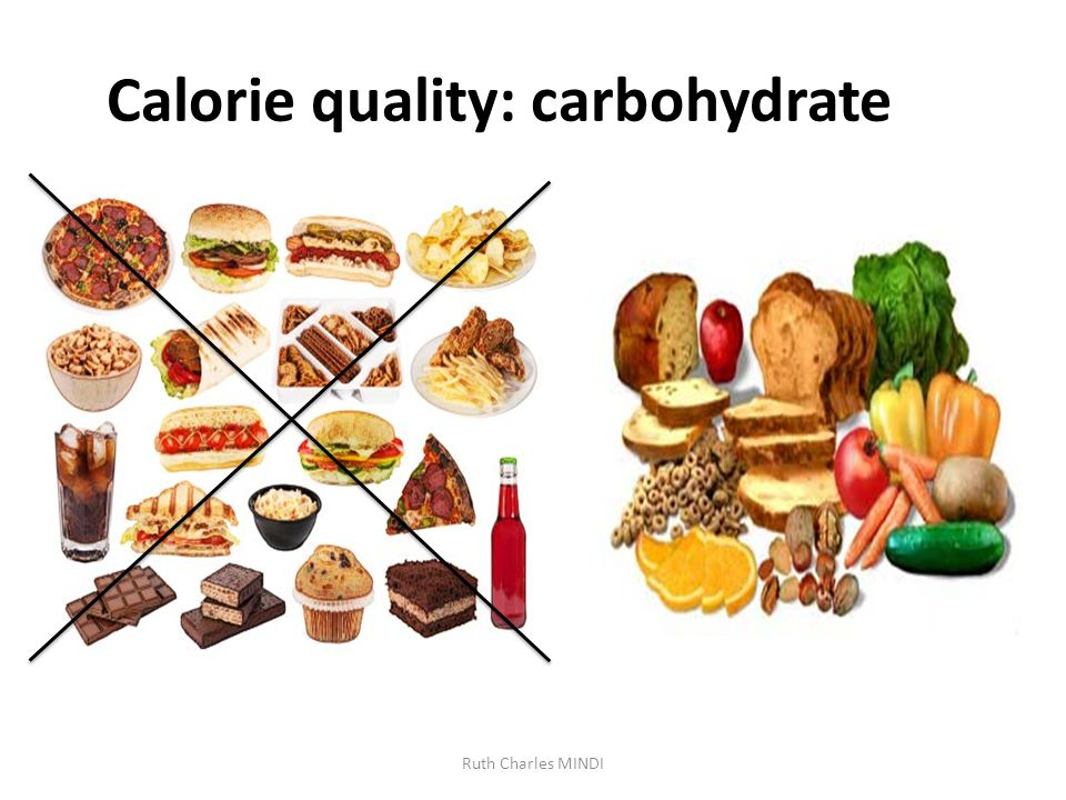 Calorie quality: carbohydrate Ruth Charles MINDI