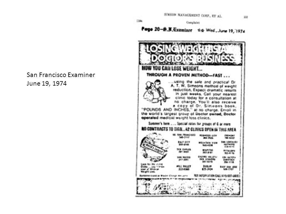 San Francisco Examiner June 19, 1974