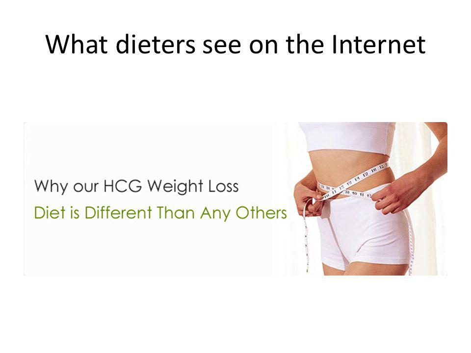 What dieters see on the Internet
