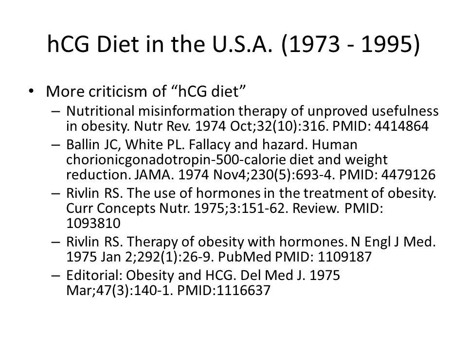 hCG Diet in the U.S.A.