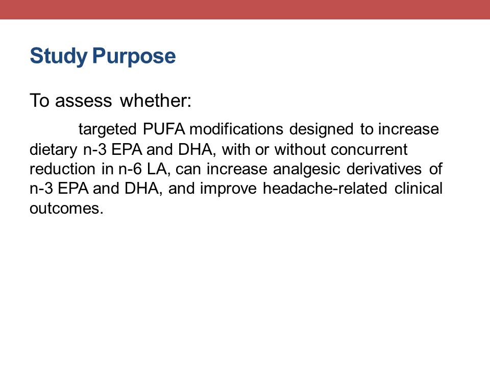 Specific Aim 1 To assess the efficacy of the dietary interventions in inducing the predicted changes in circulating PUFA endovanilloid derivatives.