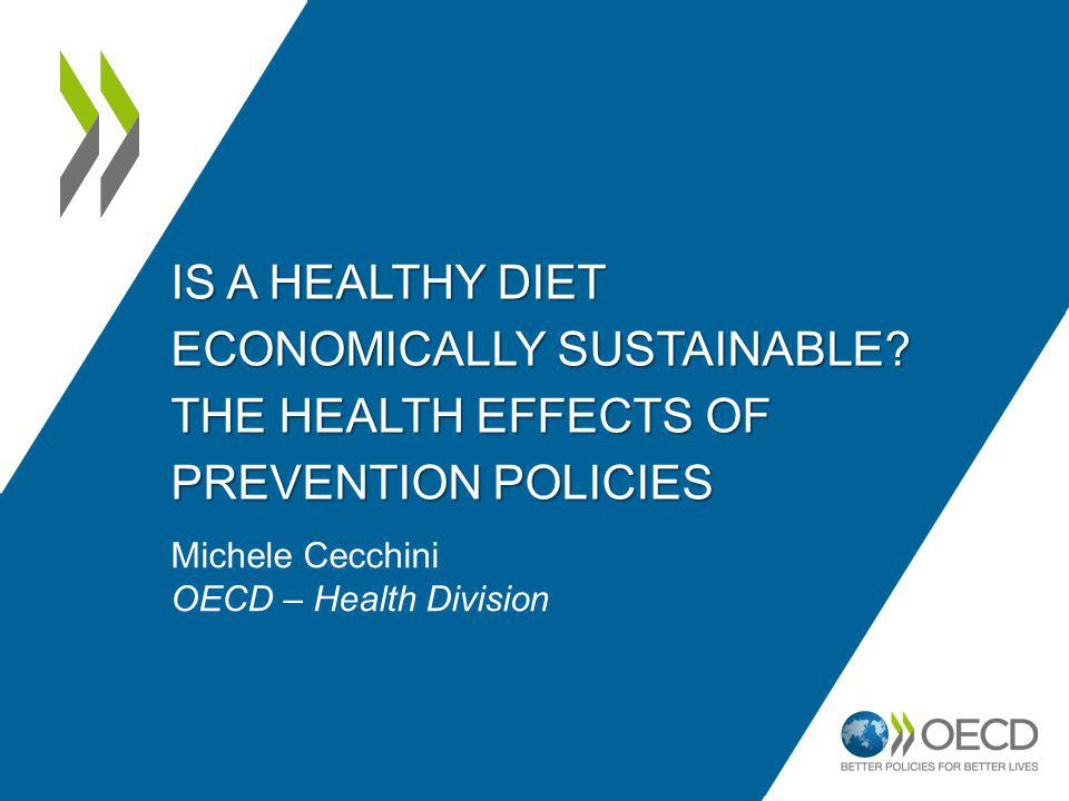 IS A HEALTHY DIET ECONOMICALLY SUSTAINABLE.