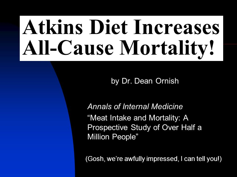 Atkins Diet Increases All-Cause Mortality. by Dr.