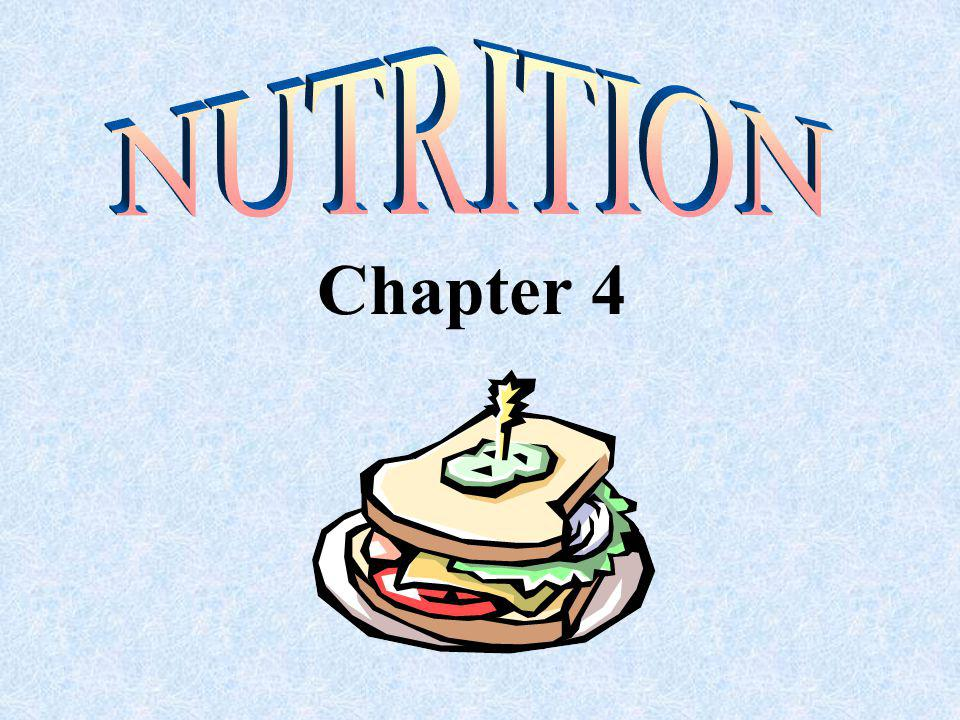 Section 4.2 Nutritional Components of Food
