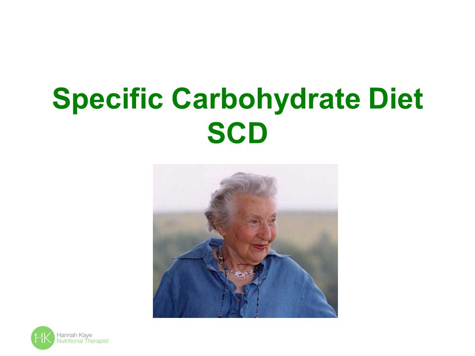 Specific Carbohydrate Diet SCD