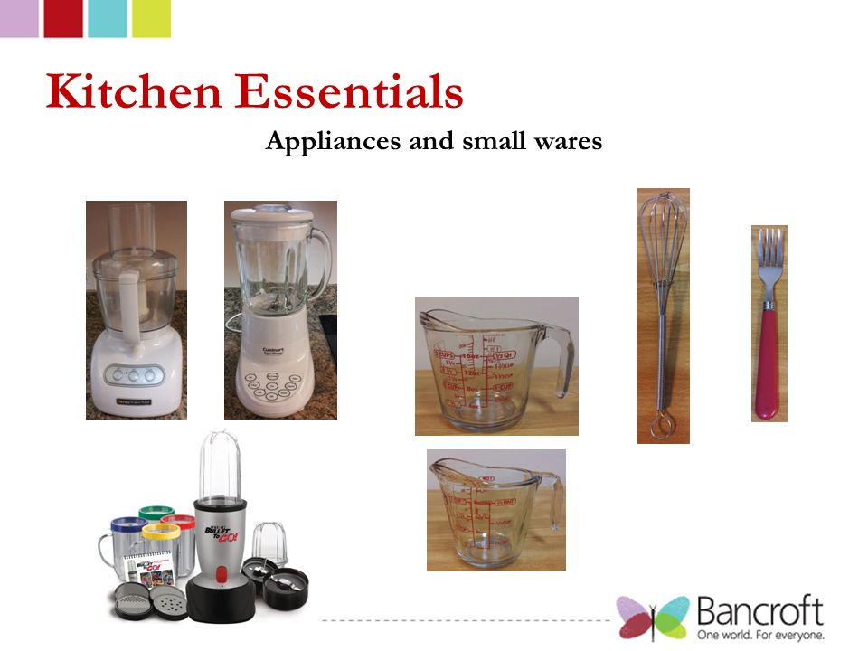 Kitchen Essentials Appliances and small wares