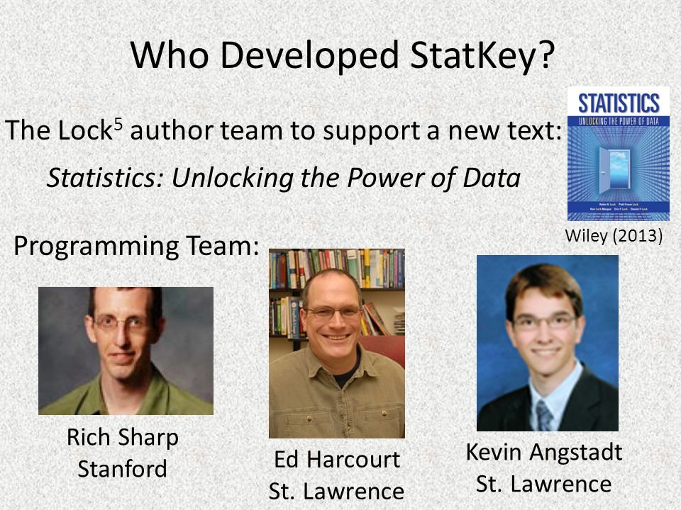 Who Developed StatKey.