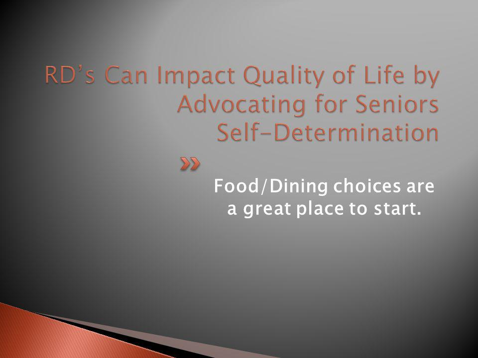 Food/Dining choices are a great place to start.