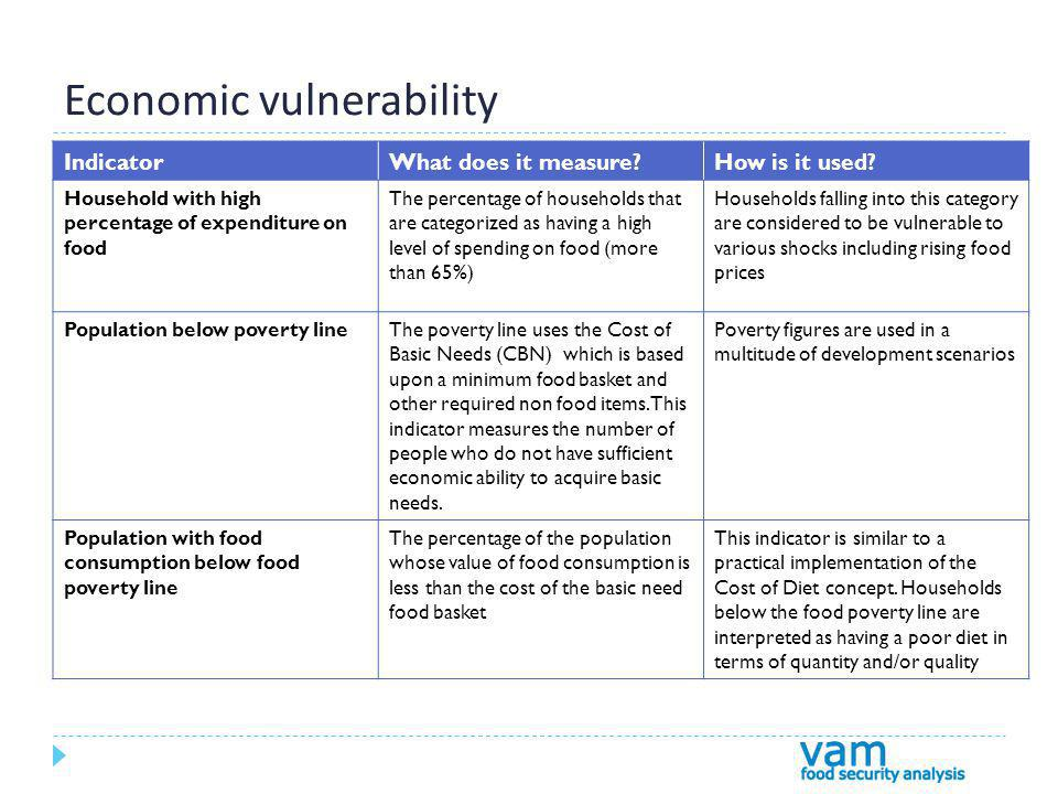 Economic vulnerability IndicatorWhat does it measure How is it used.
