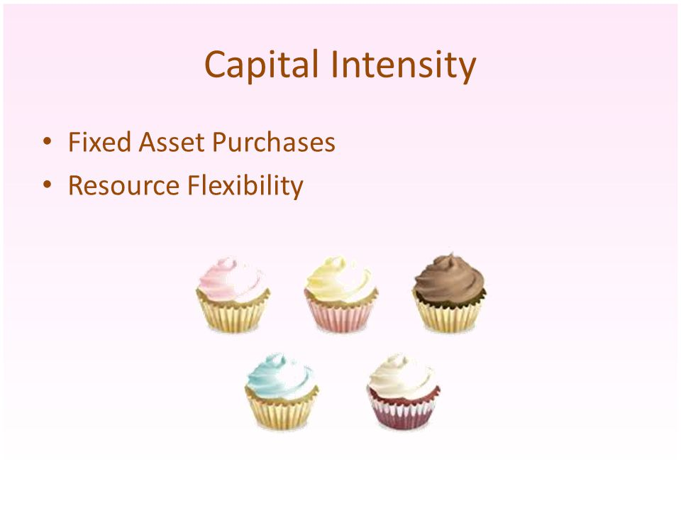 Capital Intensity Fixed Asset Purchases Resource Flexibility