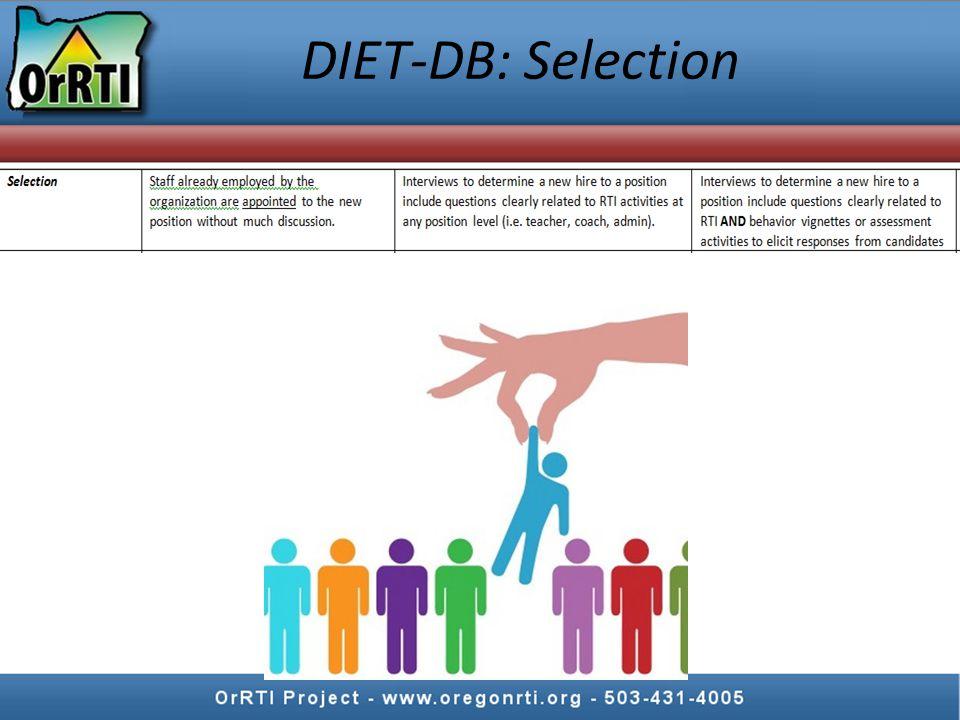 DIET-DB: Training