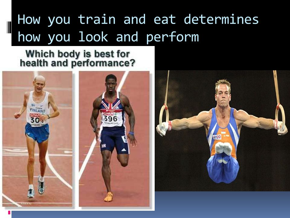 How you train and eat determines how you look and perform