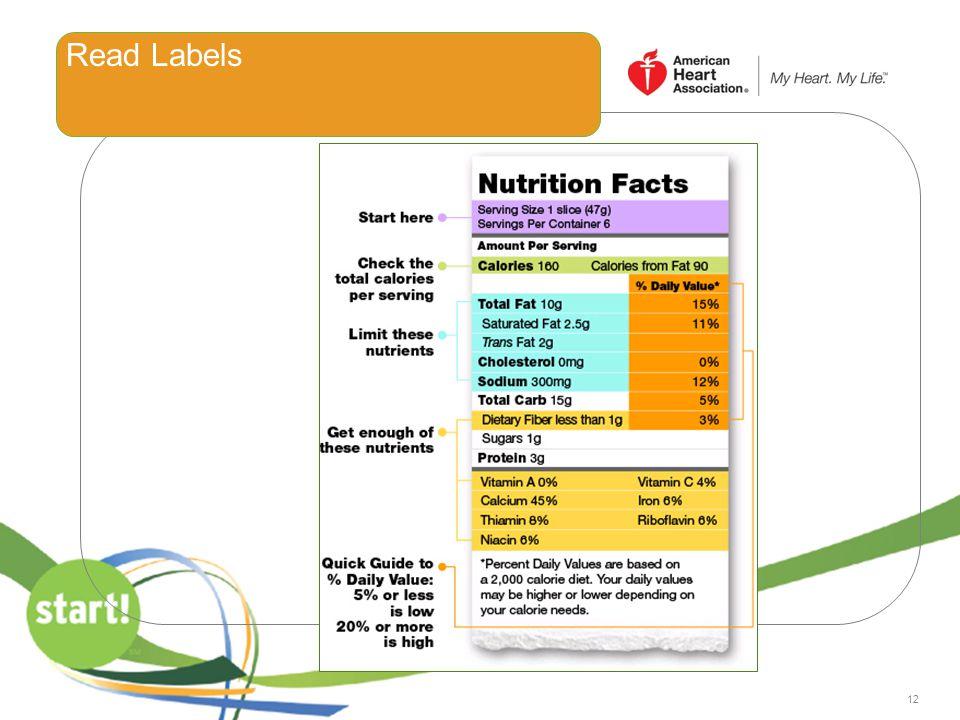 12 Read Labels