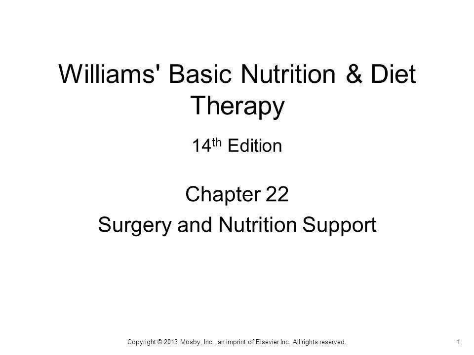 Lesson 22.1: Nutrition Support and Methods of Feeding Surgical treatment requires added nutrition support for tissue healing and rapid recovery.