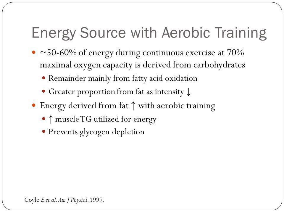 Recommendations During Exercise Consume carbohydrates spaced out every 15-20 minutes 6-8% carbohydrate, primarily glucose More concentrated source or fructose may slow gastric emptying or cause GI distress ~3-4 cups/hr