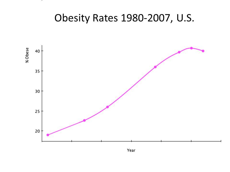 Obesity Rates 1980-2007, U.S.