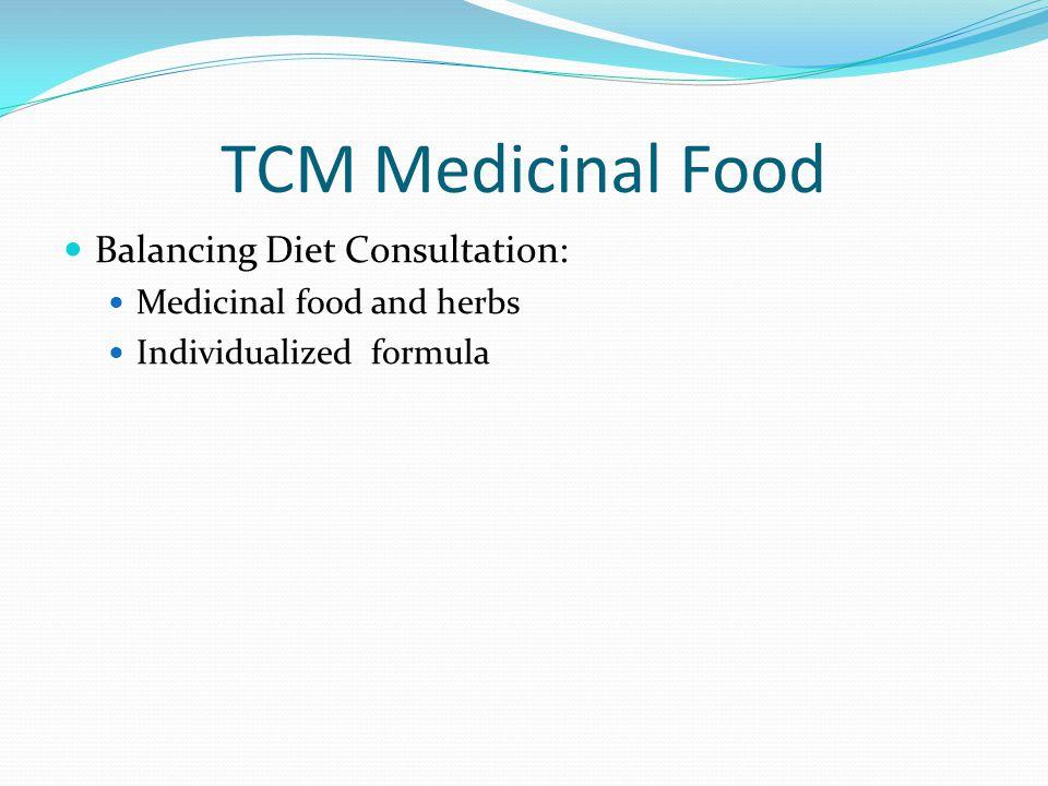 TCM Medicinal Food Balancing Diet Consultation: Medicinal food and herbs Individualized formula