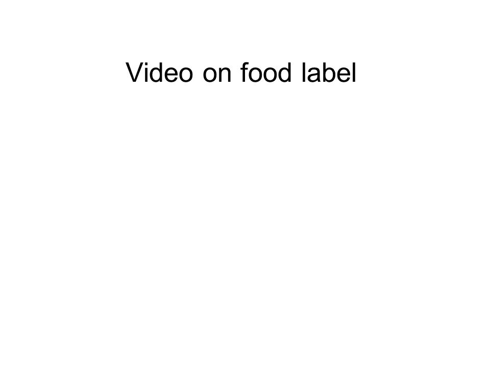 Video on food label
