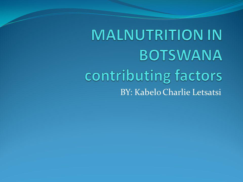WHAT IS MALNUTRITION??.