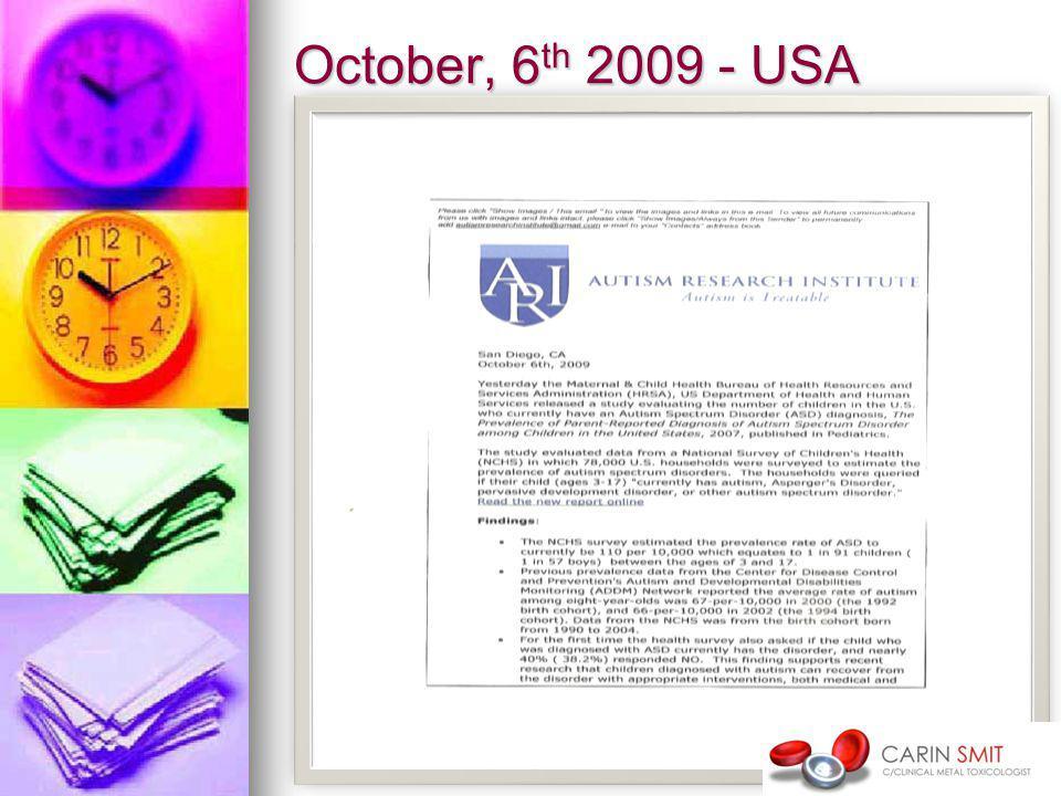 October, 6 th 2009 - USA