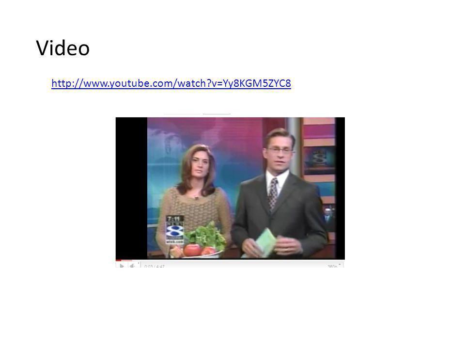 Video http://www.youtube.com/watch v=Yy8KGM5ZYC8