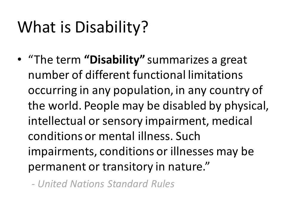 What is Disability.