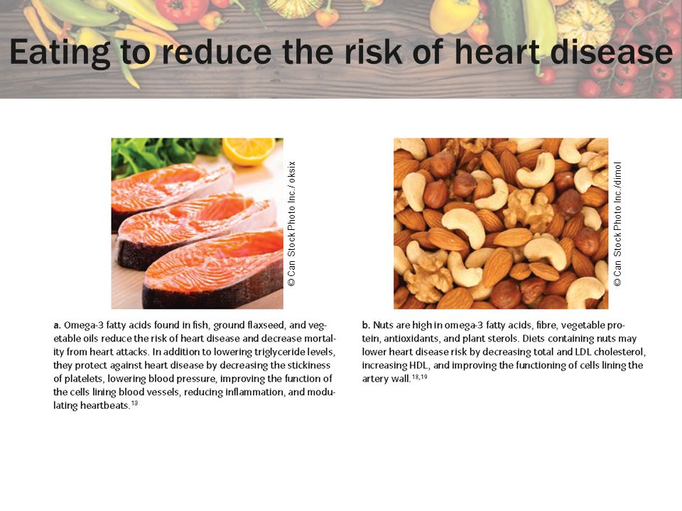 Eating to reduce the risk of heart disease © Can Stock Photo Inc./ oksix© Can Stock Photo Inc./dimol