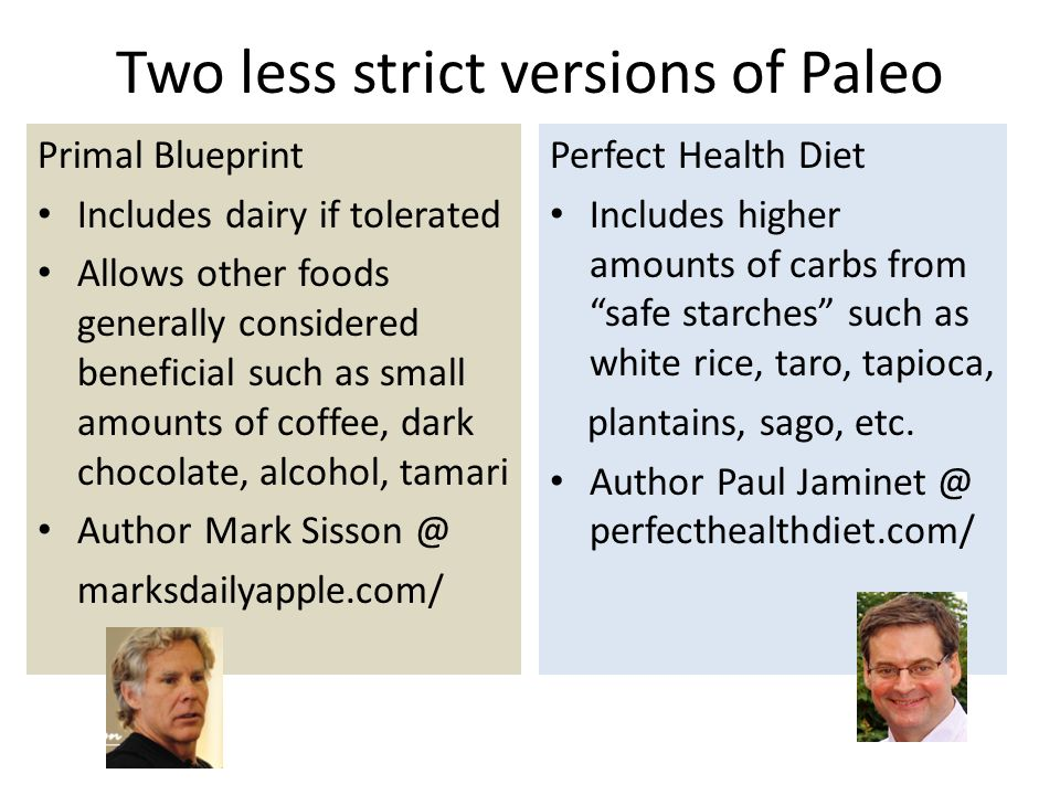 Paleo: not necessarily a high-meat diet, but usually high in plant foods