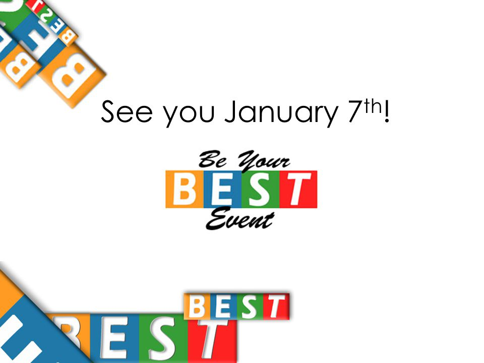 See you January 7 th !
