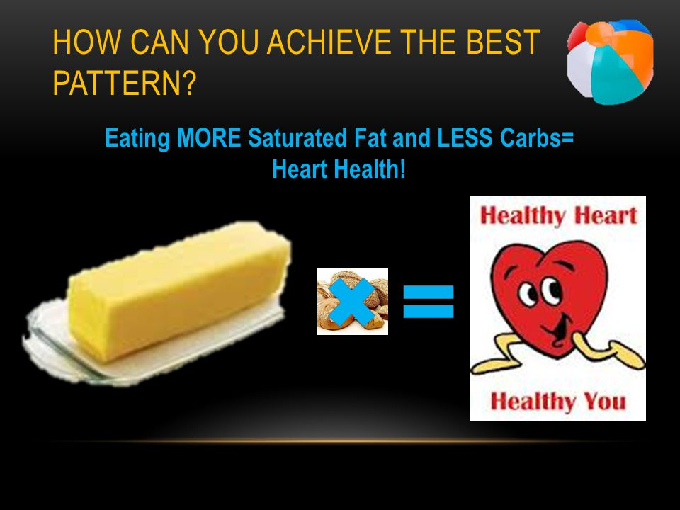 HOW CAN YOU ACHIEVE THE BEST PATTERN Eating MORE Saturated Fat and LESS Carbs= Heart Health!