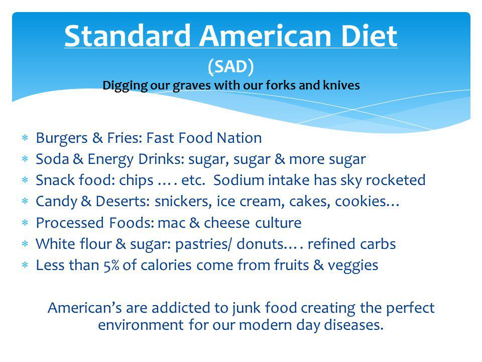 Just say NO to Fast Foods & Processed Foods and Yes to all things that come directly from the earth.