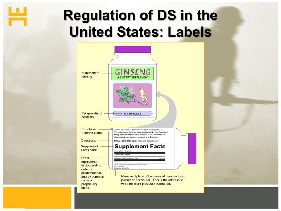 Regulation of DS in the United States: Labels