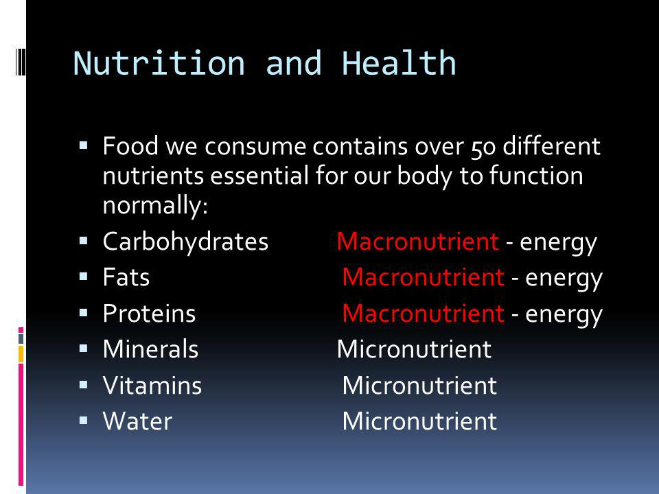Carbohydrates (60% diet intake) macronutrient Carbs are our primary source of energy.