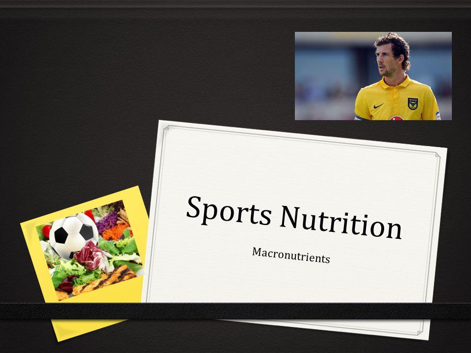 Sports Nutrition Macronutrients