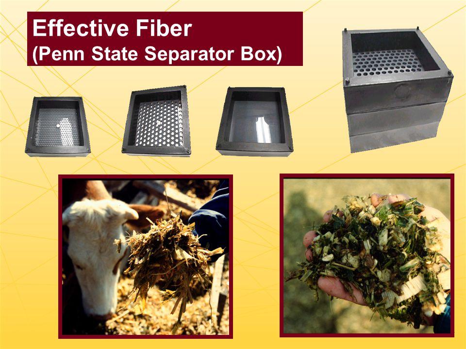 Effective Fiber (Penn State Separator Box)