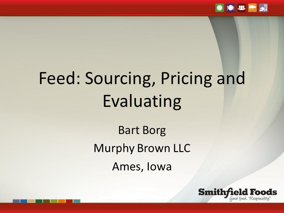 Summary Feed sourcing decisions become much more clear when the delivered to the farm cost is unbundled into milling, delivery and ingredient costs.