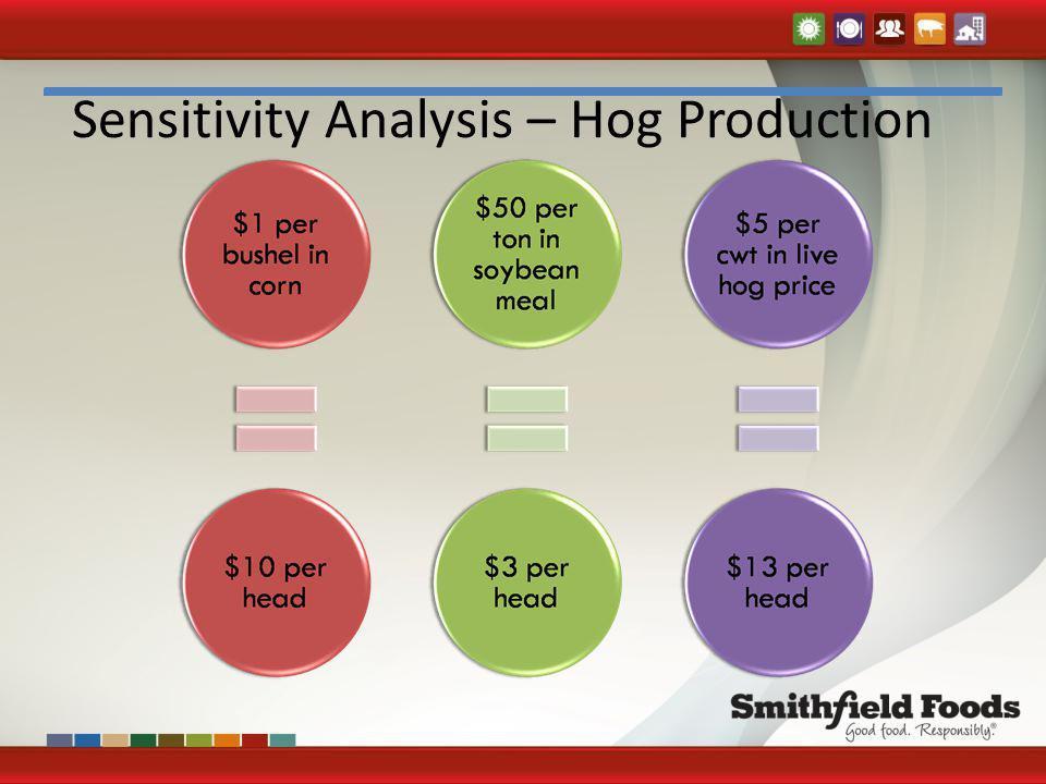Sensitivity Analysis – Hog Production