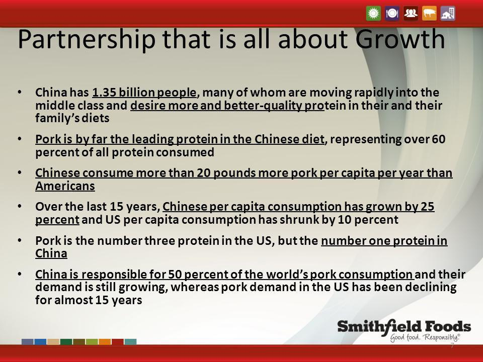 Partnership that is all about Growth China has 1.35 billion people, many of whom are moving rapidly into the middle class and desire more and better-q
