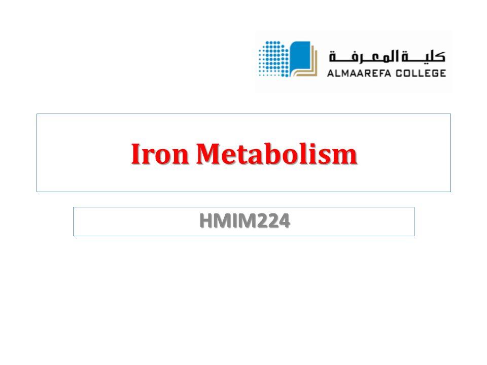 Iron Metabolism HMIM224
