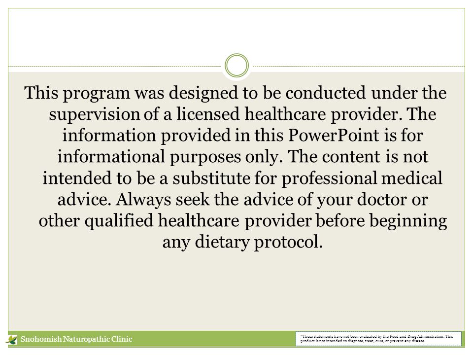 This program was designed to be conducted under the supervision of a licensed healthcare provider.