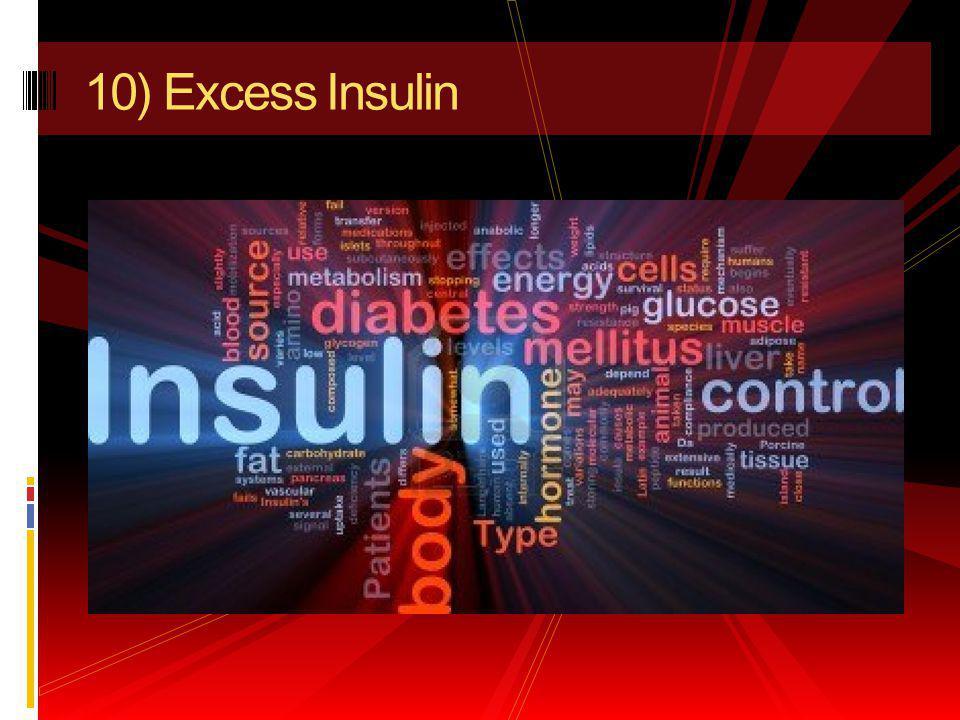 10) Excess Insulin