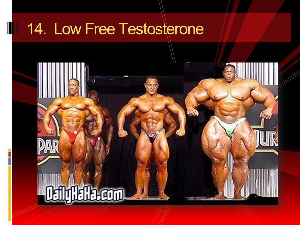 14. Low Free Testosterone