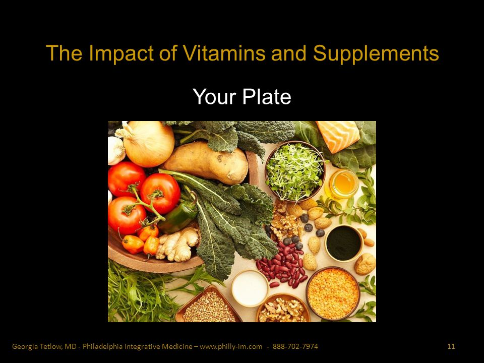 Your Plate 11Georgia Tetlow, MD - Philadelphia Integrative Medicine – The Impact of Vitamins and Supplements