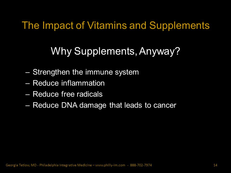 Why Supplements, Anyway.
