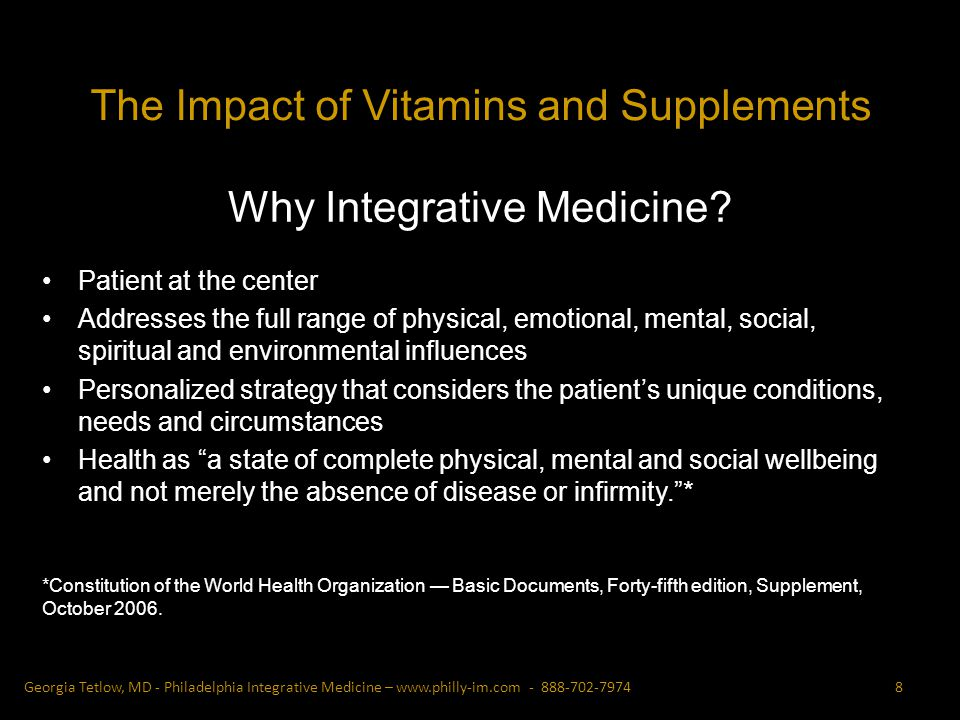 Why Integrative Medicine.